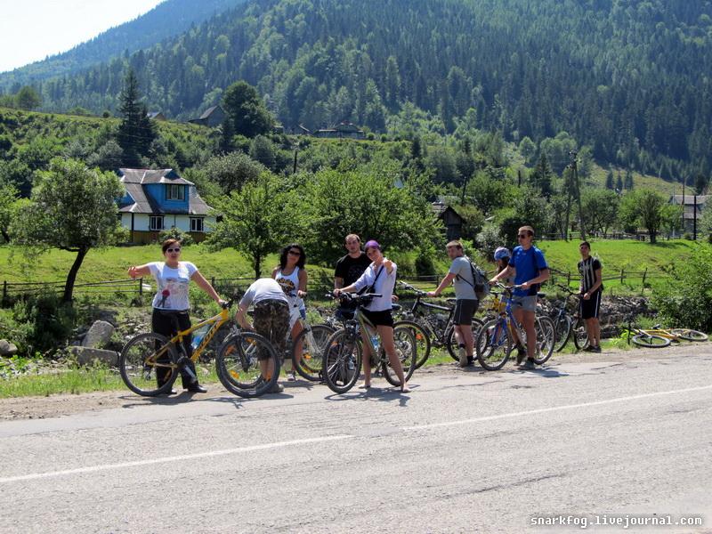 На велосипедах по горам
