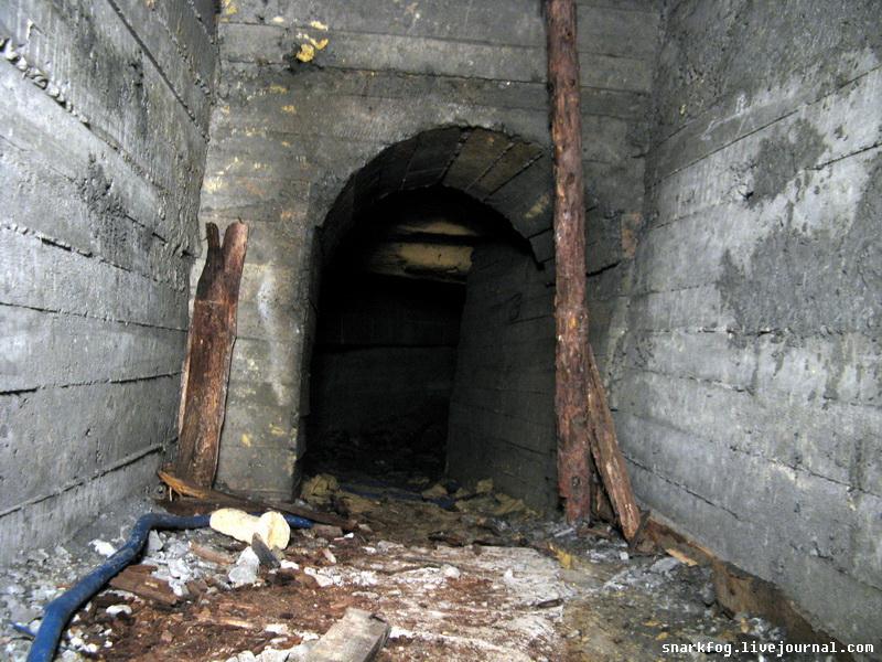 Бетонная крепь в шахте