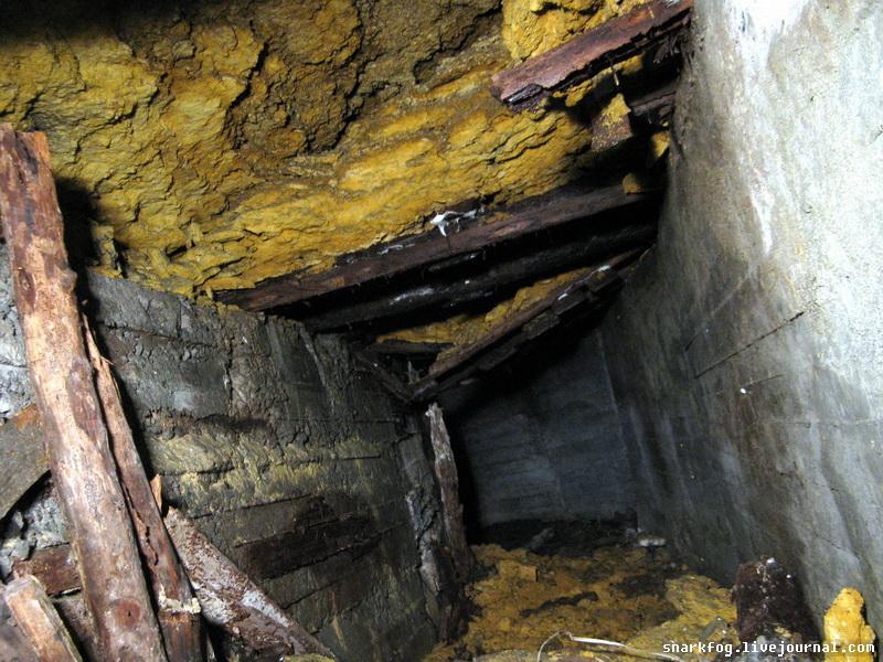 Сгнившая шахтная крепь