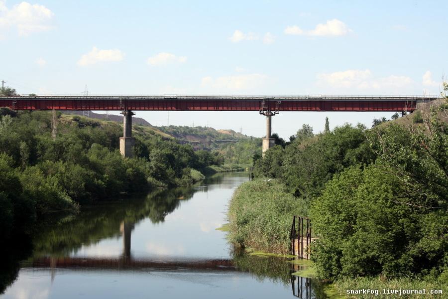 Мост в районе карьеров