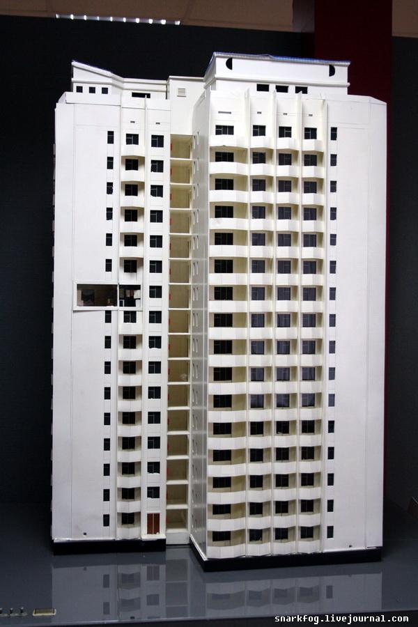 Макет многоэтажки