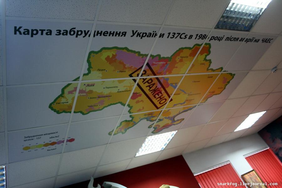 Карта загрязнения Украины Цезием-137