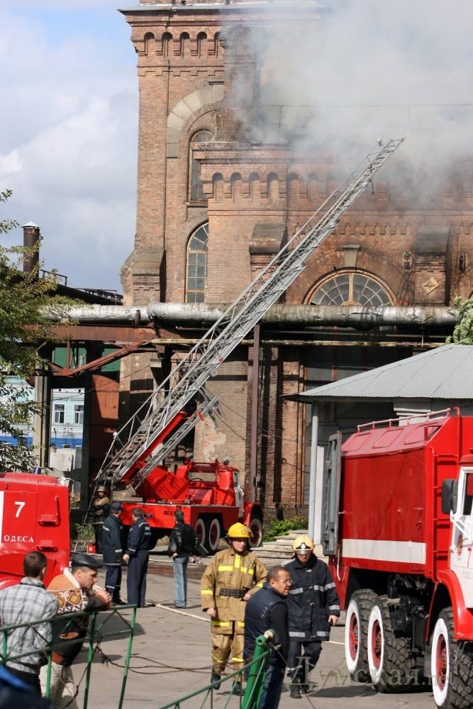 Пожар в октябре 2011